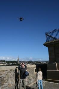 BBC drone ove the Royal Bastion