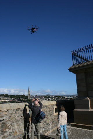 BBC drone ove the Royal Bastion