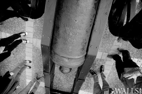 Fishmonger's Cannon, part of tour of the Walls given by Mark Lusby, Heritage Officer, Derry Walls. Image Stephen Latimer Photography