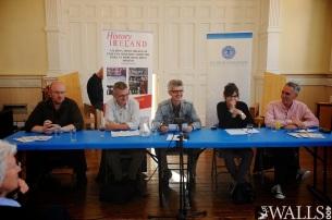 The panel of historians sharing a joke. Image Stephen Latimer Photography